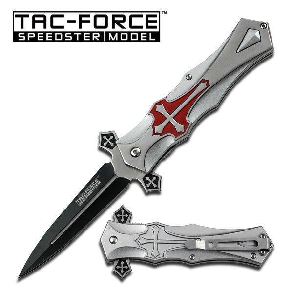 TAC FORCE Midieval Spring Assisted Pocket Knife Folding Blad