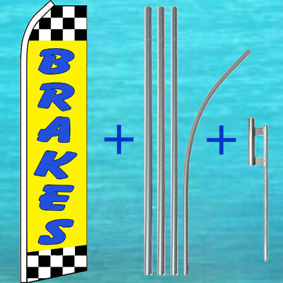 Brakes Flutter Flag Pole Mount Kit Auto Repair Feather Swooper Banner Sign