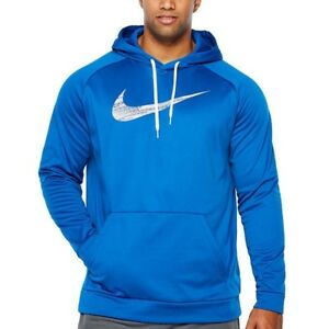 Blue Nike dri fit hoodie  size large