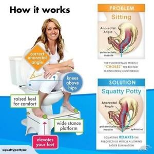 Squatty Potty - perfect toilet posture :) Keywords: squat stool constipation hemorrhoids urinary pelvic floor colon