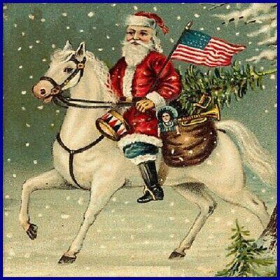 30 Custom Usa Santa Personalized Address Labels