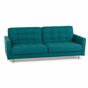 Teal/Turquoise Sofa Bed (Structube Eden)