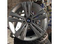 "Genuine BMW 17"" sport alloy wheels 5120 fits all BMW inc t5 VW transporter slloys"
