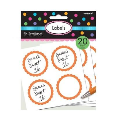 Orange Candy Buffet Geschenk Packung Personalisieren Aufkleber 20 Pack