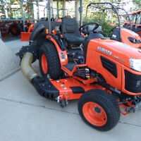 26 hp Kubota  tractor with Mower and Bagger