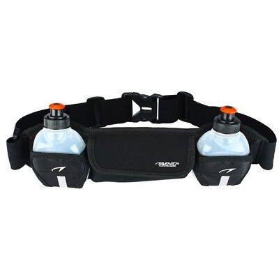 Laufgürtel mit zwei Trinkflaschen Radsport Sport Fitness Gürtel #
