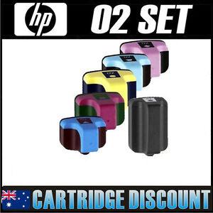 6 x HP02 02 Ink Cartridges Photosmart C6180 C6270 C6280 C7180 C7280 Printers