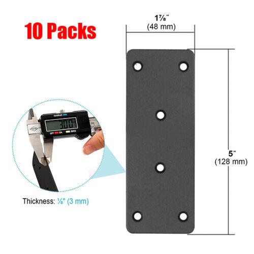 10PCS Steel Black Flat Mending Plate Heavy Duty Joining Fixing Repair Bracket