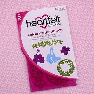 Heartfelt Creations CELEBRATE THE SEASON Die Set - Includes 5 Festive Dies