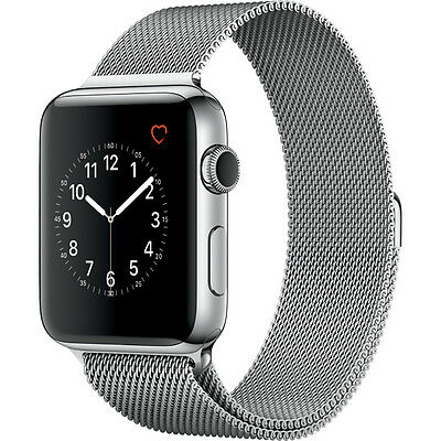 NEW Apple Watch Series 2 42mm Stainless Steel Case with Milanese Loop*Offer