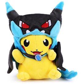 "Pokemon pikachu 9"" tall plush toy kids"