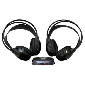Pyle Dual Wireless IR Mobile Video Stereo Headphones with Transm