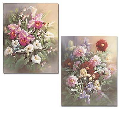 2 New Hummingbird Art Prints Floral Posters Wall Decor on Rummage