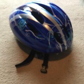 Blue kids cycling hat