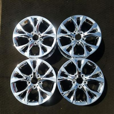 "1 SET CHROME 17""X8"" INCH 2004-2010 BMW X3 OEM Factory Original Wheels Rims 71307"