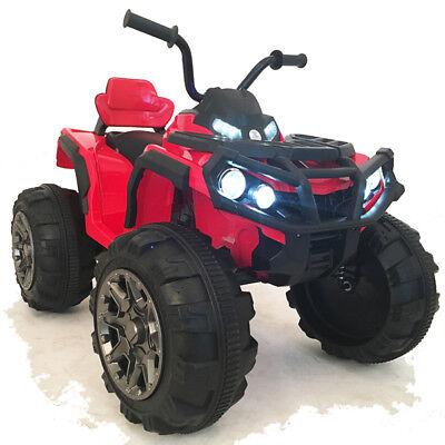 12V QUAD ATV mit FERNBEDIENUNG Kinder Motorrad Kinderfahrzeug Kinderauto ROT