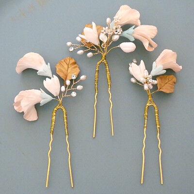 Sweet Pea Wedding Flowers - Twigs & Honey Sweet Pea Hair Pins Set Flower Hair Pins, Bridal