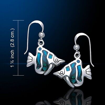 Fish Earrings .925 Sterling Silver by Peter Stone Jewelry