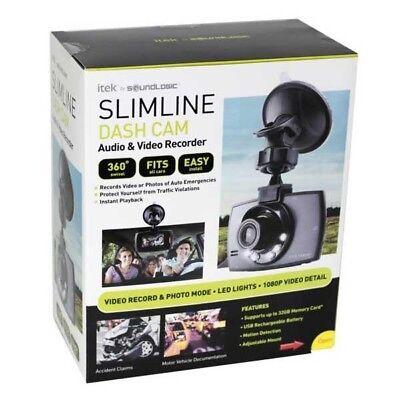 Itex Slimline Dash Cam By Soundlogic Xt Ccv 12 6587 Hd Dvr   New