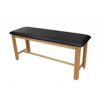 Treatment Table - New H-brace Eucalyptus Exam Table 29.5 Black Cushion Top