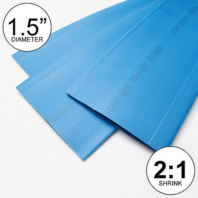 1.5 Id Blue Heat Shrink Tube 21 Ratio 1-12 Wrap 2 Feet Inchftto 40mm