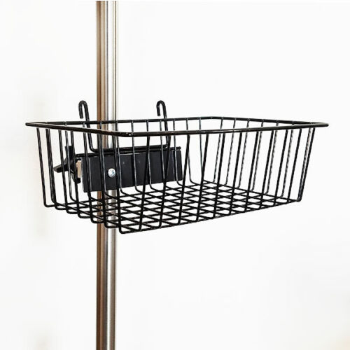 "New MCM-217 Powder Coated Black Wire Basket 12""x8""x4"" Fits Universal Clamp"
