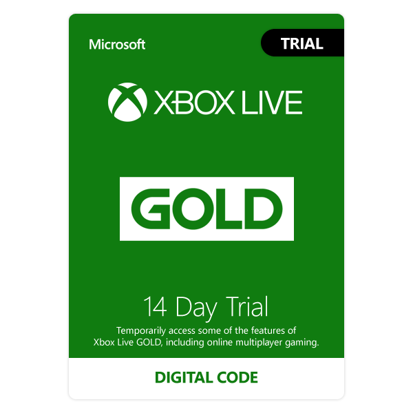 Xbox Live 14 Day Gold Membership Trial Code FAST EMAIL DELIVERY XBOX ONE ONLY
