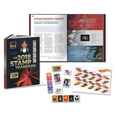 USPS New 2018 Stamp Yearbook w/Collectible -