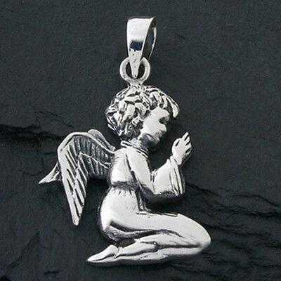 925 Silber XXL betender Engel Anhänger Taufe Konfirmation Firmung Schutzengel