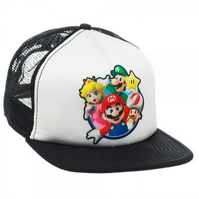 Nintendo ~MARIO SNAPBACK HAT~ Luigi - Peach - Toad - Men's Mesh Trucker Cap COOL - Toad Mario Hat