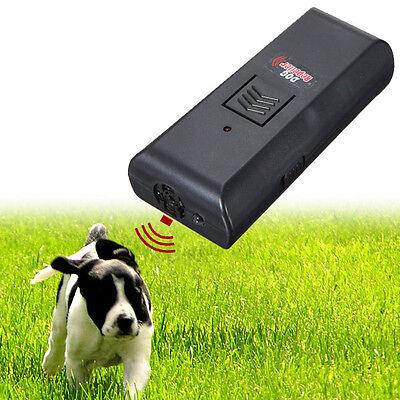 Ultrasonic Dog Pet Aggressive Repeller Train Safe Humune Stop Barking Training