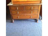 Oak chest of draws