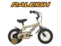 Boys Raleigh bike camo style
