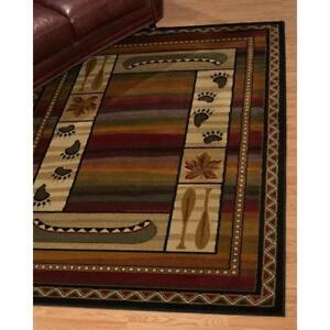 Affinity Canoe Sunset Lodge Brown Area Rug