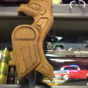 NATIVE WOOD CARVING $50