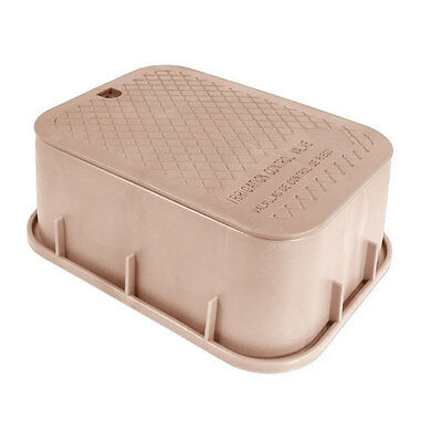 Storm Drain FSD-122-6 Brown Sand 6-Inch Sprinkler Valve Box and Lid Combo Home & Garden