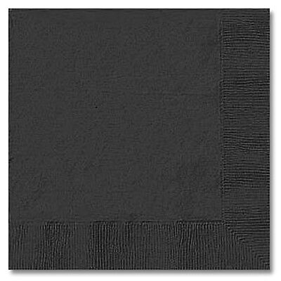 BLACK (50) LUNCHEON LUNCH DINNER PAPER NAPKINS Party Supplies!! For Any Party!