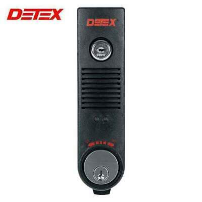 Detex Eax-500 Black With Cylinder Exit Door Alarm - 9v Battery - Mortise - Horn