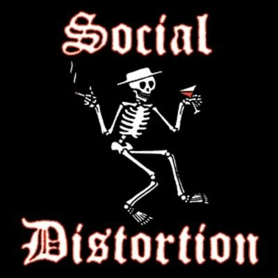 SOCIAL DISTORTION - BUTTON - Logo -Pinback Style-1.5 Inch Size - LICENSED NEW