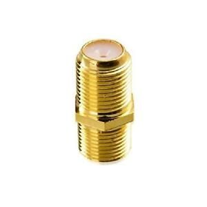 RECOTON Video Coaxial Cable Couplers - F/F Jacks - Gold Plated - Pack of 5