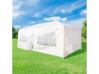 Brand New Outdoor Garden Gazebo Marquee (White 6m x 3m) for sale