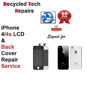 iphone 4s screen repair iphone 4 4s broken screen amp back cover repair 2162
