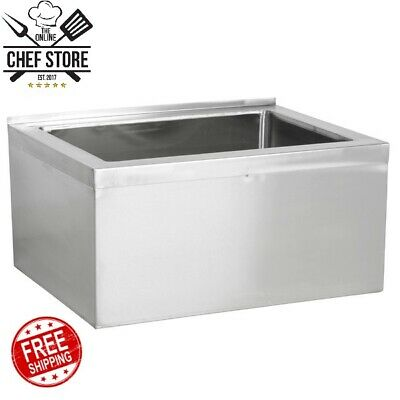 32 X 24 X 11 12 Stainless Steel Bowl Floor Mop Sink Commercial Kitchen