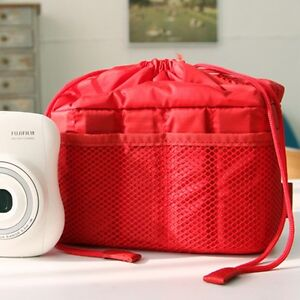 NEW-Ciesta-Camera-insert-Partition-Padded-Bag-Case-Red-for-SLR-RF-instax-mini