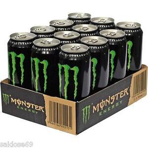 12 Dosen a 0,5L Monster Energy Drink inc. Pfand Energie grün Orginal Sonderpreis