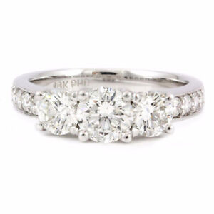 18k White Gold Diamond Engagement Ring (0.86tdw, estate) #2459