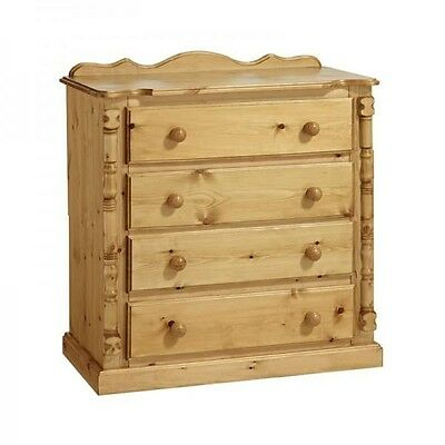 Pine Furniture Sandringham 4 Drawer Chest No Embly Required
