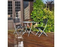 3 Piece Black Bistro Patio Garden Furniture Set (FREE LOCAL DELIVERY)