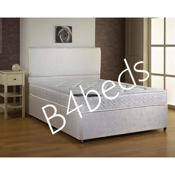 1fb2aadc3218 DOUBLE DIVAN BED WITH GOOD QUALITY MATTRESS. Glasgow City Centre ...