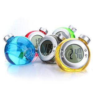 Mini Cute Eco-friendly Water Powered Energy Clock Timer with Digital LCD Screen